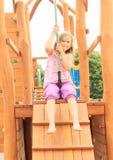 Jong geitje op kabelbaan Royalty-vrije Stock Foto