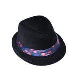 Jong geitje zwarte hoed Stock Afbeeldingen