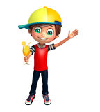 Jong geitjejongen met Juice Glass vector illustratie