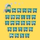 Jong geitjetrein met Alfabet Stock Afbeelding