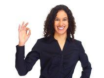 Jong gelukkig bedrijfsvrouwenportret stock fotografie