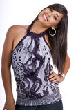 Jong gelukkig tienermeisje dat modieuze blouse draagt Royalty-vrije Stock Foto