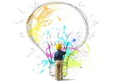 Jong groot idee vector illustratie