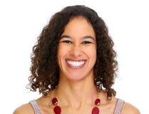 Jong het glimlachen vrouwenportret royalty-vrije stock afbeelding