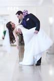 Jong huwelijkspaar royalty-vrije stock afbeeldingen