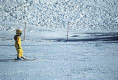 Jong jong geitje op ski Royalty-vrije Stock Afbeelding