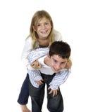 Jong jongen en meisje Royalty-vrije Stock Fotografie