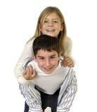 Jong jongen en meisje Royalty-vrije Stock Afbeeldingen