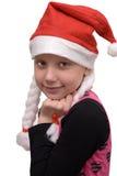 Jong Kerstmismeisje Stock Afbeelding