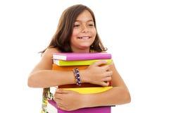 Jong kind dat naar school gaat Stock Foto's