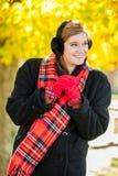 Jong leuk vrouw/meisje in het koude weer Stock Fotografie