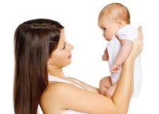 Jong mamma met haar zuigeling Stock Afbeelding