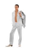 Jong mannelijk-model Stock Fotografie