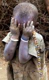 Jong Masai-meisje stock afbeelding