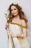 Jong meisje bij de lentebeeld Royalty-vrije Stock Fotografie