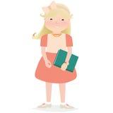 Jong meisje dat een boek houdt royalty-vrije illustratie