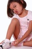 Jong meisje dat frustratie uitdrukt royalty-vrije stock foto's