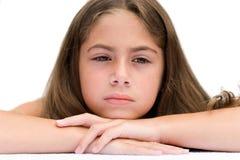Jong Meisje dat Vermoeid kijkt Stock Foto's