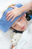 Jong meisje dat ziek voelt Royalty-vrije Stock Foto's