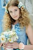 Jong meisje in de stijl van de Provence Royalty-vrije Stock Foto