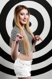 Jong meisje in de studio Stock Afbeelding