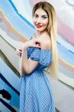 Jong meisje in de studio Royalty-vrije Stock Foto