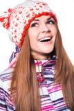 Jong meisje in de winterkleren Royalty-vrije Stock Foto