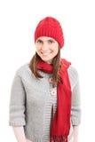 Jong meisje die de winterkleren dragen royalty-vrije stock foto