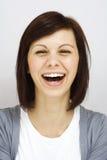 Jong meisje die oprecht lachen Royalty-vrije Stock Foto