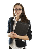 Jong meisje in een handelsformulier royalty-vrije stock afbeeldingen