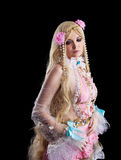 Jong meisje in fee-verhaal poppen cosplay kostuum Stock Fotografie