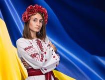 Jong meisje in het Oekraïense nationale kostuum Stock Foto's