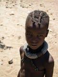Jong Meisje Himba royalty-vrije stock foto's