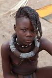 Jong meisje Himba Stock Foto's