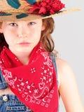 Jong meisje in landkleren Royalty-vrije Stock Fotografie