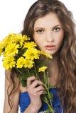 Jong meisje met bloem royalty-vrije stock afbeelding