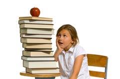 Jong meisje met boeken Royalty-vrije Stock Afbeelding
