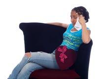 Jong meisje met een hartzeer Stock Foto's