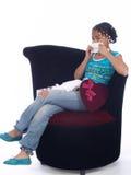 Jong meisje met een hartzeer Royalty-vrije Stock Fotografie