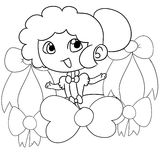 Jong meisje met een lint Stock Foto