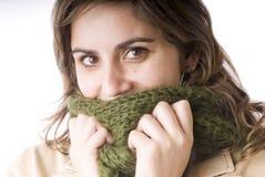 Jong meisje met een sjaal Stock Foto