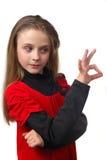 Jong meisje met emotie royalty-vrije stock afbeelding