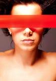 Jong meisje met gesloten ogen Stock Fotografie