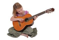 Jong meisje met gitaar Royalty-vrije Stock Foto's