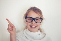 Jong meisje met glazen Royalty-vrije Stock Afbeelding