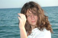 Jong meisje met groene ogen Royalty-vrije Stock Foto's