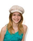 Jong meisje met hoed Stock Foto's