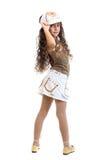 Jong meisje met houding Royalty-vrije Stock Afbeeldingen