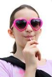 Jong meisje met lolly royalty-vrije stock foto