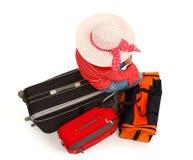 Jong meisje met luggages Royalty-vrije Stock Afbeelding
